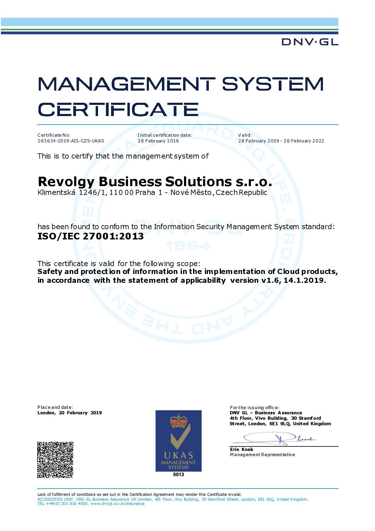 Revolgy ISO 27001 certificate EN 2019-page-001