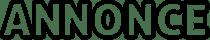 annonce logo black